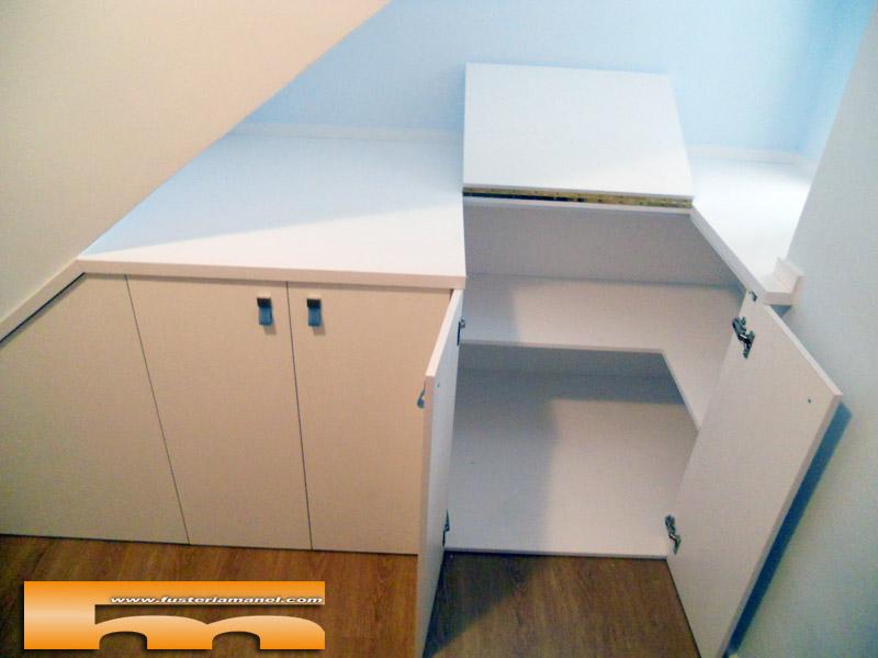 Medidas Baño Adaptado:Mueble Bajo Escalera a medida