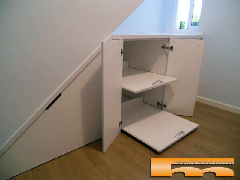 mueble bajo escalera a medida sabadell josepa