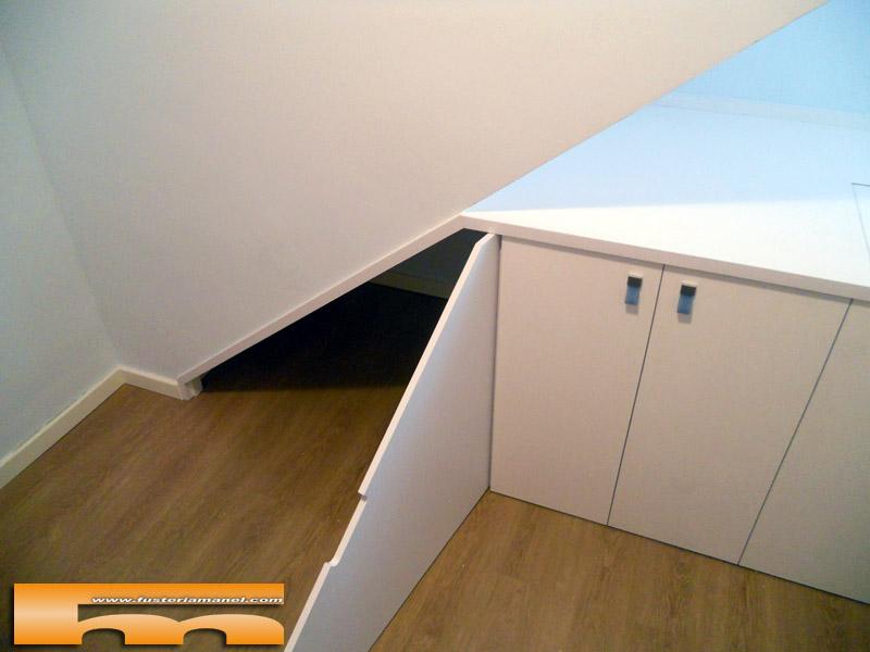 Baño Bajo Escalera Medidas:Mueble Bajo Escalera a medida