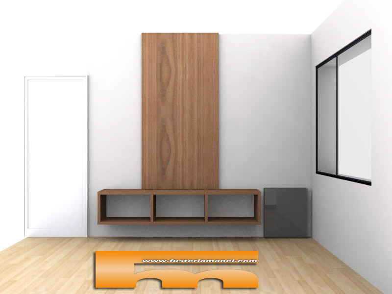 Mueble sal n tv a medida badalona oscar for Mueble salon 3 metros