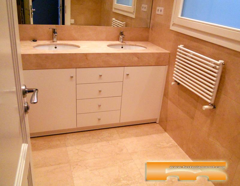 Medidas Muebles Baño : Mueble baño a medida lacado barcelona laurent