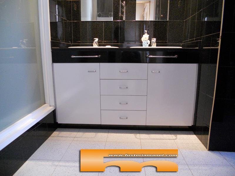 Medidas Baño De Servicio:Mueble baño a medida color Blanco