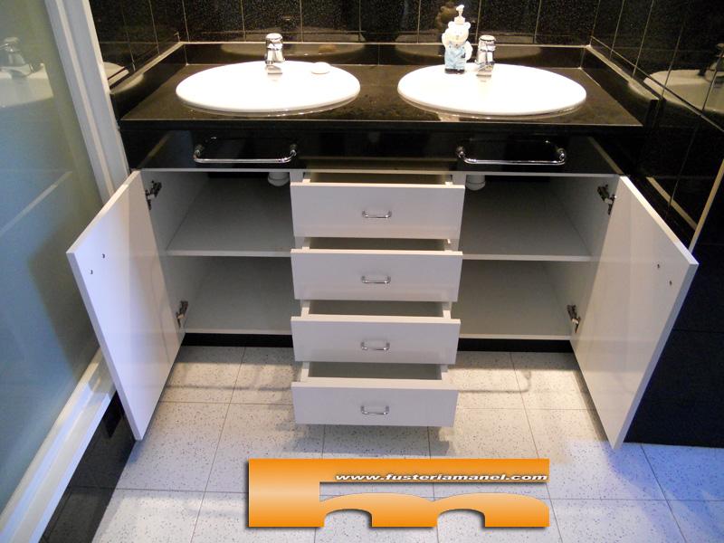 Muebles De Baño A Medida:Mueble baño a medida color Blanco