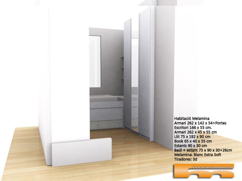 habitacion_infantil_a_medida_decoracion_escritorio_cama_compacta_3dgral_Arantxa_Barcelona Viladecans