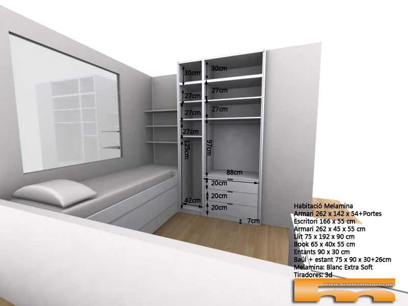 habitacion_infantil_a_medida_decoracion_escritorio_cama_compacta_3dint_Arantxa_Barcelona Viladecans