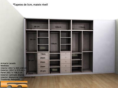 Armario_a_medida_semiempotrado_lacado_Sonia_Barcelona 3dint