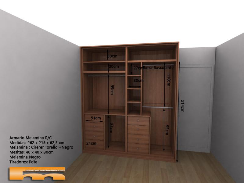armario a medida correderas interior 3d Tami Sabadell Barcelona