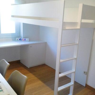 cama alta a medida con zona estudio 1 Nuria Sant Cugat del Valles