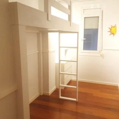 cama alta a medida habitacion juvenil Rocio Barcelona
