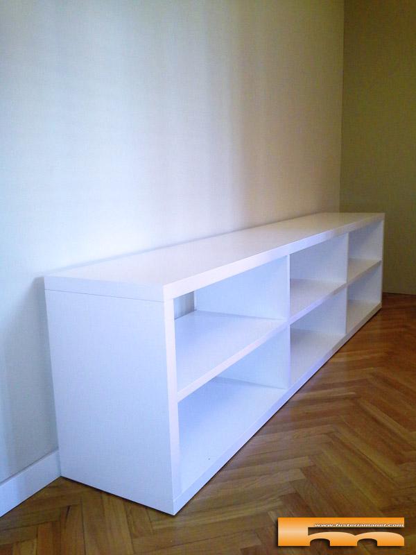 mueble tv estanteria a medida salon Terrassa Barcelona Monts