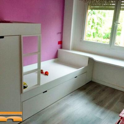Habitación Infantil con Litera tren niñas   Sant Cugat del Vallès   Laura
