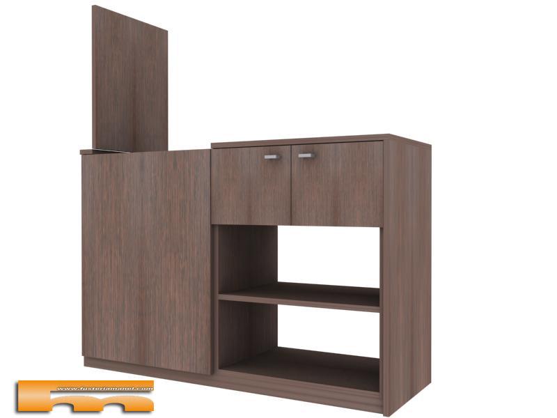 Mueble baño lavadora apertura superior 3d