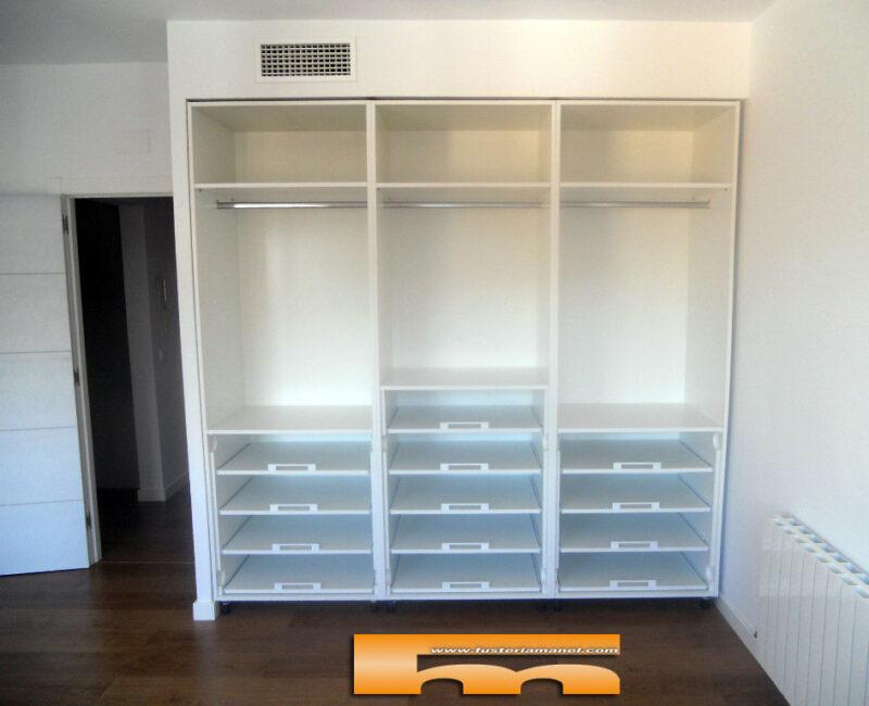 armario a medida viladecans barcelona juvenil lacado diseño interior estantes extraibles fr miquel