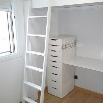 cama alta habitacion compartida infantil Chus Barcelona