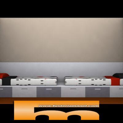 cama con cajones inferiores doble a medida barcelona 3d fr