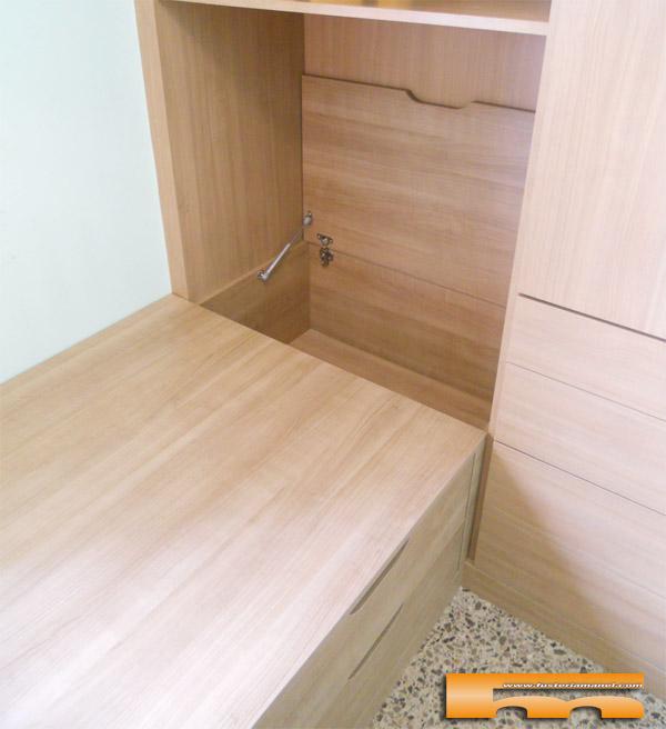 cama nido con cajones y baul cornella llobregat apertura