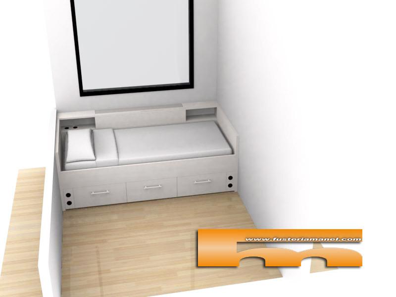 cama_a_medida_con_cajones_y_cubreradiador_188x90_Terrassa_Ricard 3d