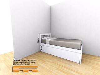 Cama Nido lacada para Habitación juvenil niña | Joaquin | Sant Feliu de Llobregat