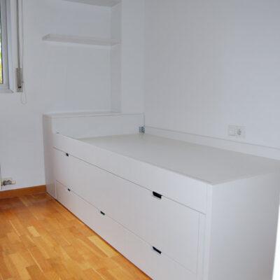 Cama Compacta a medida con Baúl, Cama Supletoria + 3 cajones para Habitación Infantil | Christina | Sant Cugat del Vallès