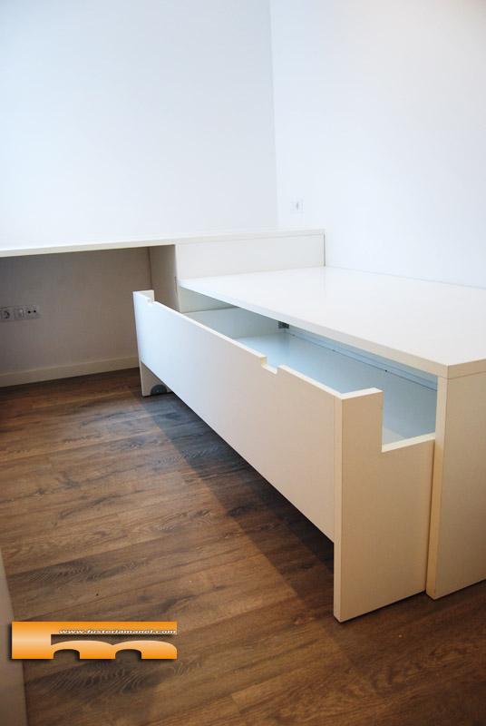 Cama Compacta Escritorio Habitación Juvenil   Barcelona   Clara