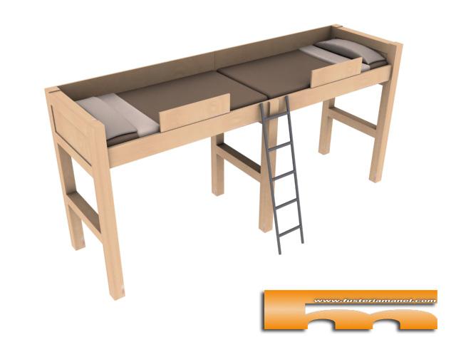 camas altas a medida habitacion juvenil cornella de llobregat