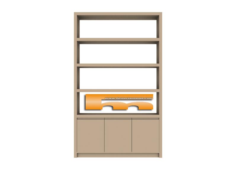 estanteria dm con puertas ineriores sant cugat del valles vicky 3d