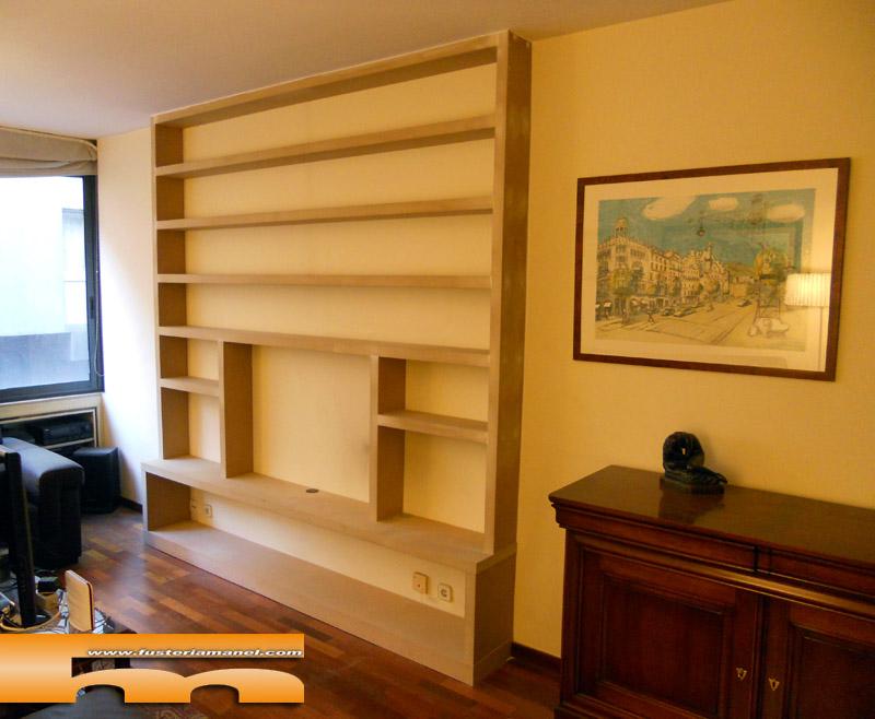 estanteria libreria tv a medida dm para pintar barcelona