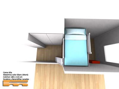 Cama Alta a medida para Habitación Juvenil | Marga | Montcada i Reixac