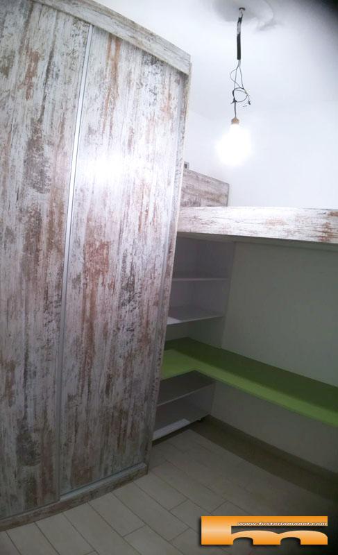 Habitacion pequeña juvenil Cama Alta y Estudio | Tana | Barcelona