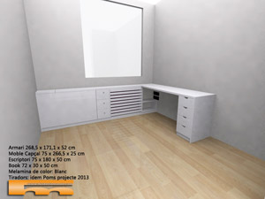 Mueble Cabezal y Armario en Habitación a medida juvenil | Neus | Tarragona