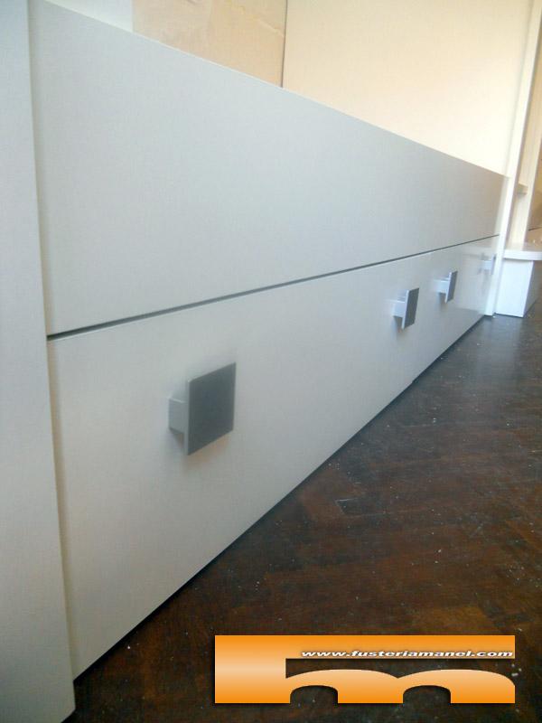 litera cuadruple a medida detalle cajon inferior barcelona