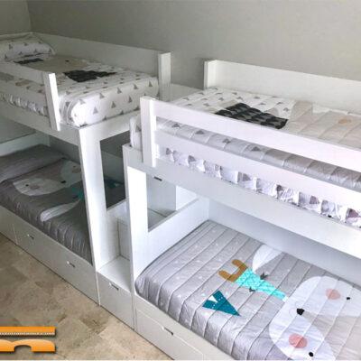 Litera Cuadruple Habitación Infantil Escalera Cajones | Carlos | Barcelona