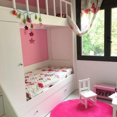 Litera Escalera de cajones a medida para Habitación Infantil Abuhardillada | Esther | Barcelona