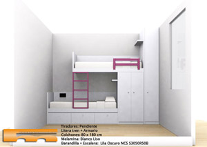 Litera Tren a medida Habitacion infantil Niñas | Arantxa | Viladecans