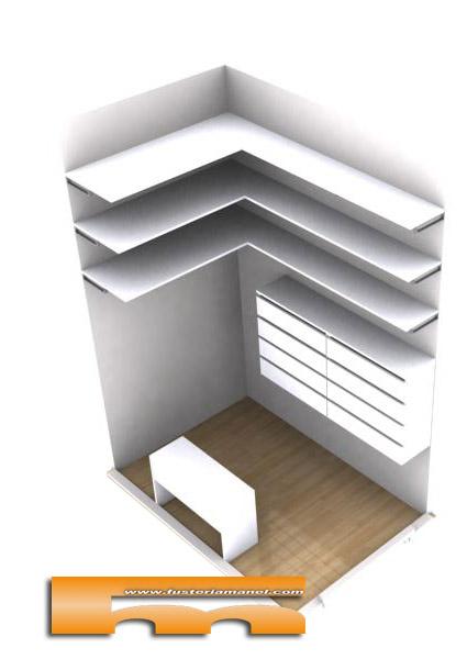 mini vestidor a medida Ana Barcelona 3d