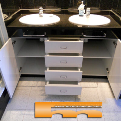 mueble baño a medida melamina barcelona rubi obert
