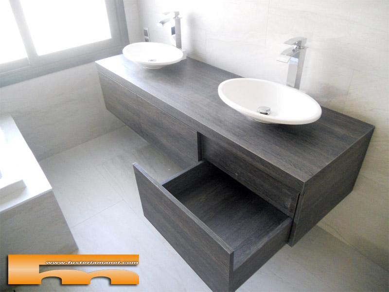 mueble baño suspendido cajones cerdanyola marta cajón oculto