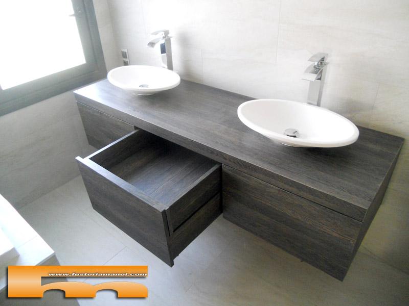 mueble baño suspendido cajones cerdanyola marta doble cajón oculto