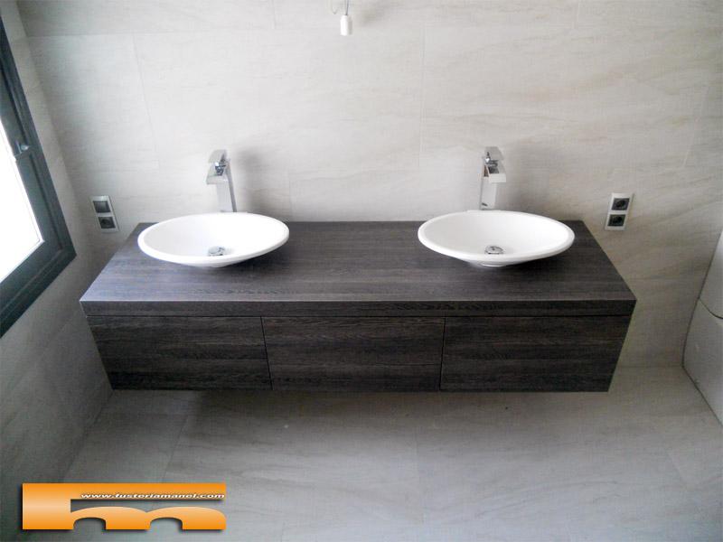 mueble baño suspendido cajones cerdanyola marta