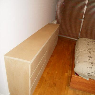mueble comoda a medida habitacion matrimonio elisabet barcelona