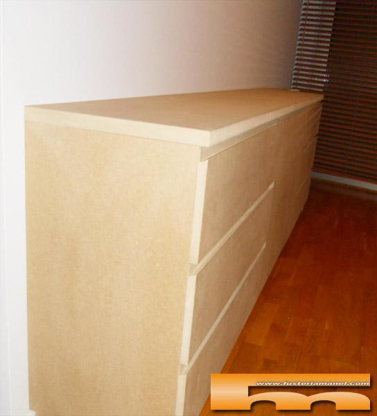 mueble comoda a medida tirador oculto elisabet barcelona