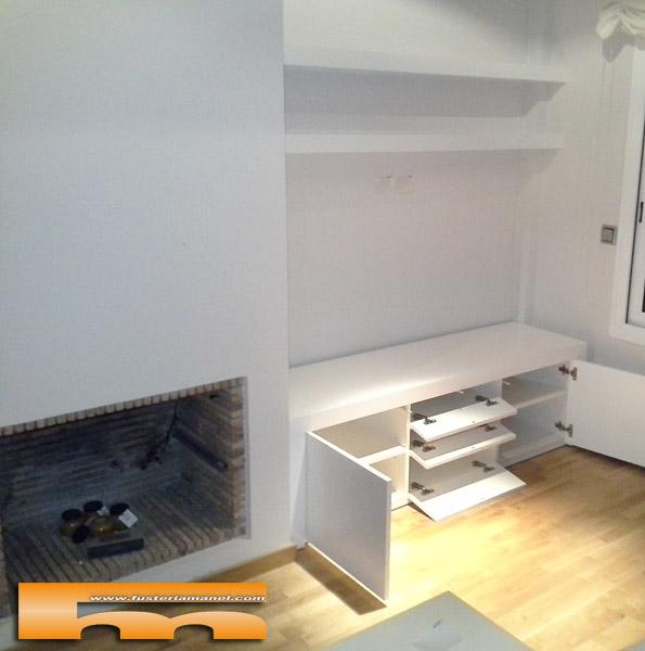 mueble salon TV a medida sandra castelledefels puertas