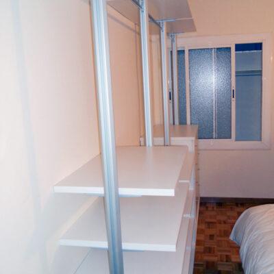 vestidor a medida sin puertas barcelona estructura inox