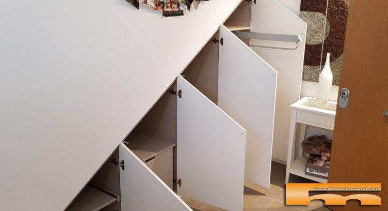 armario bajoescalera lacado medida 1 Natalia Sant Quirze del Valles