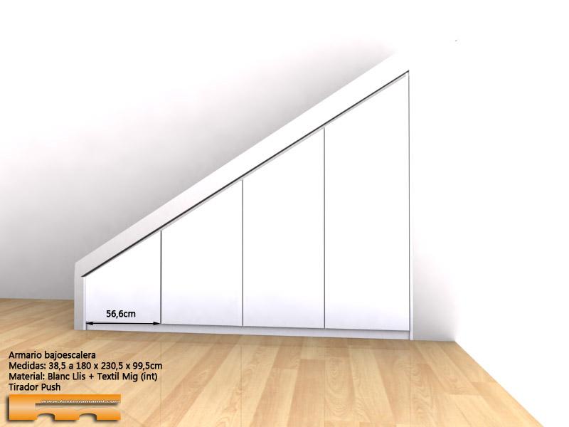armario bajoescalera lacado medida 3dext Natalia Sant Quirze del Valles