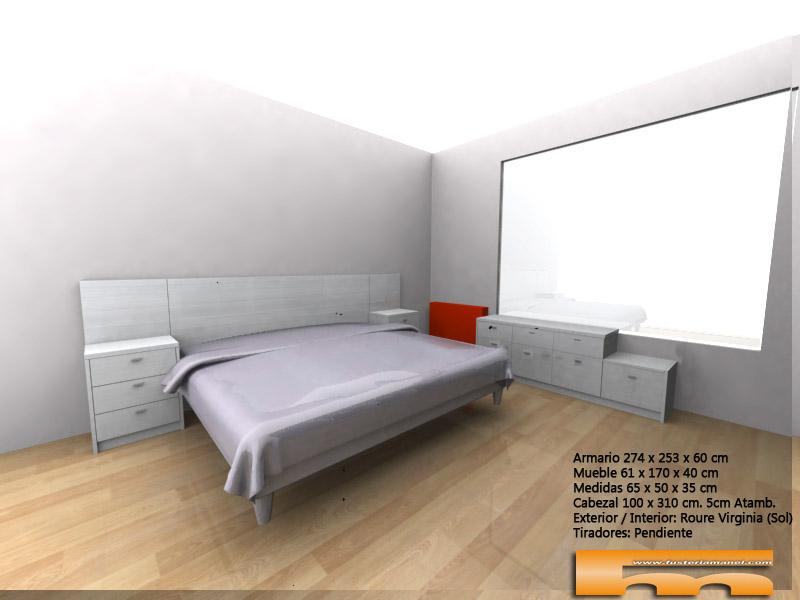 cómoda dormitorio matrimonio 3d Rubi Vicky