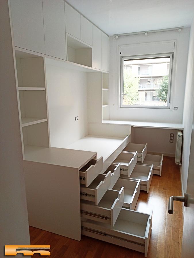 cama_compacta_altillo_10cajones_habitacion juvenil infantil Laura_Sant_Cugat