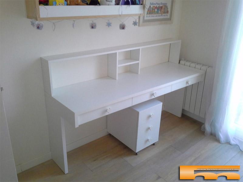 escritorio a medida de melamina estilo romantico