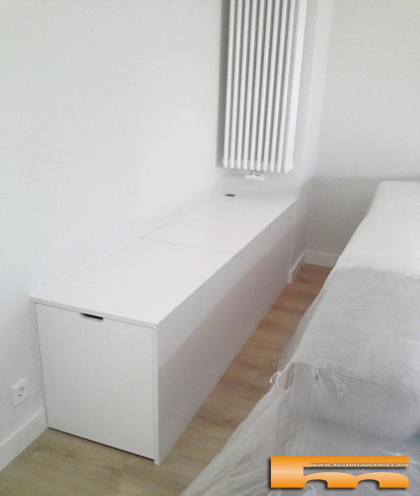mueble a medida salon sofa baul y cajon Pedro barcelona