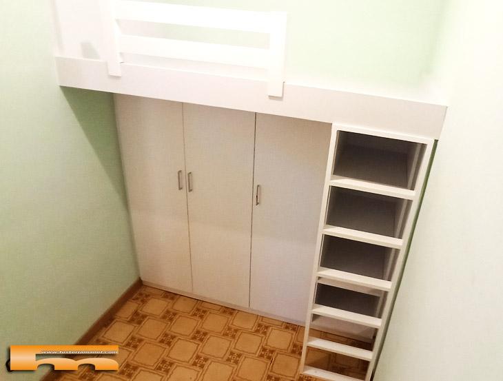 habitacion juvenil vestidor cama alta Barbara Barcelona
